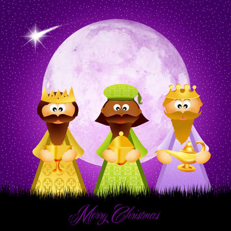 myrrh: three wise men Stock Photo