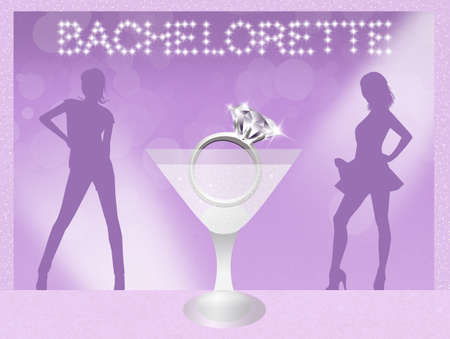 girls night out: Bachelorette party Stock Photo