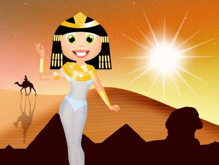 illustration of Cleopatra illustration