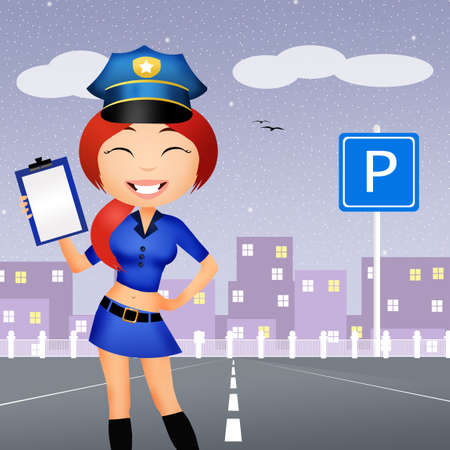 traffic warden: Police girl