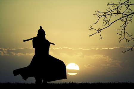 samurai warrior: Samurai with sword