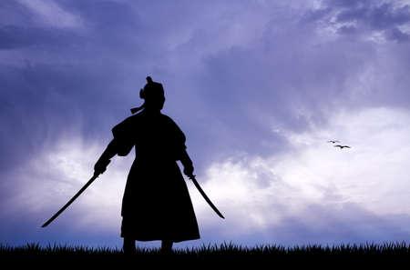 Samurai met zwaarden