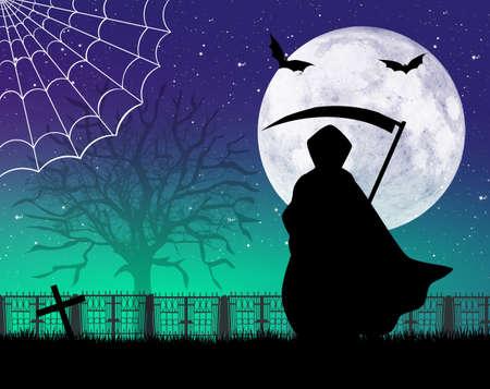 sense: Mann mit Sense von Halloween