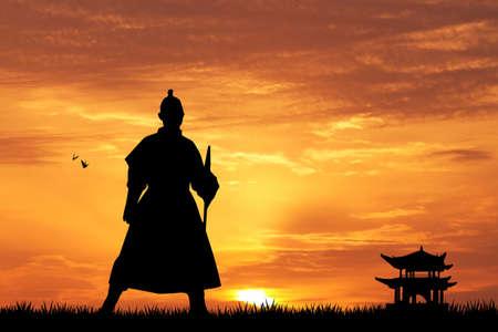 Samurai silhouette Zdjęcie Seryjne - 31171727