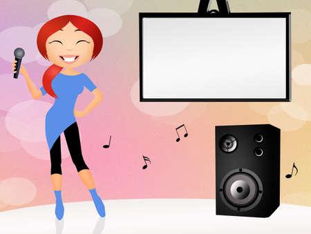 karaoke singer photo