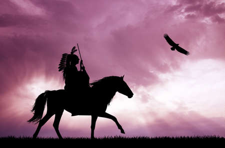 sioux: Crazy horse silhouette