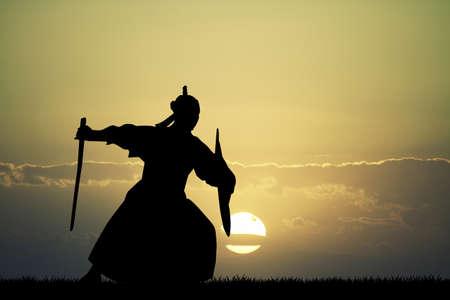 bushido: Samurai silhouette