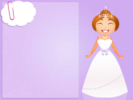 bride with white dress on purple