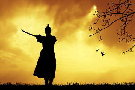 man of war: Samurai silhouette