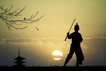 longsword: Asian man with sword