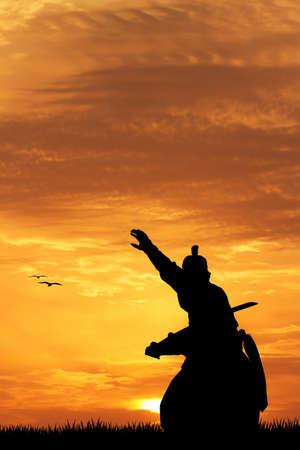 longsword: Samurai silhouette