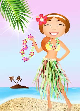Hawaiian girl photo