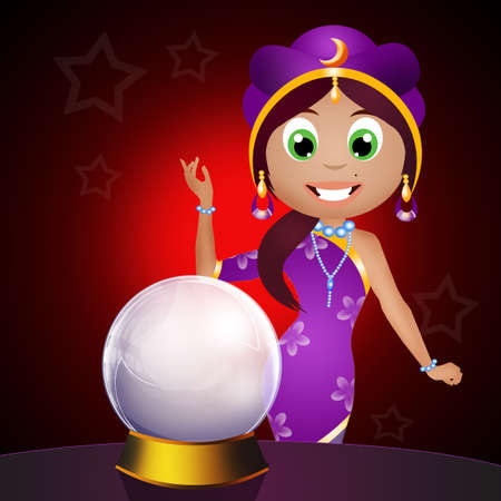 fortune teller with crystal ball photo
