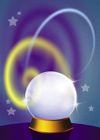 clairvoyant: crystal ball