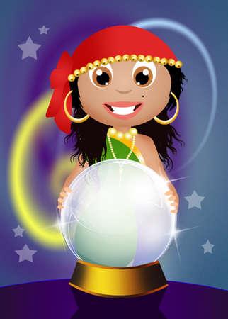 gypsy: gypsy with crystal ball