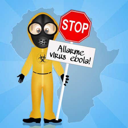 death s head: Alert ebola virus