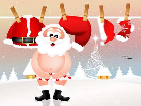underwear: Santa Claus in his underwear