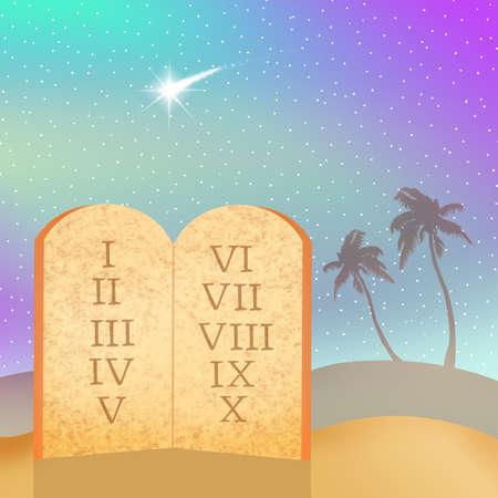 bible ten commandments: Ten Commandments Stock Photo