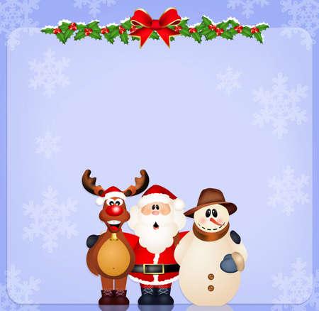 Christmas postcard photo