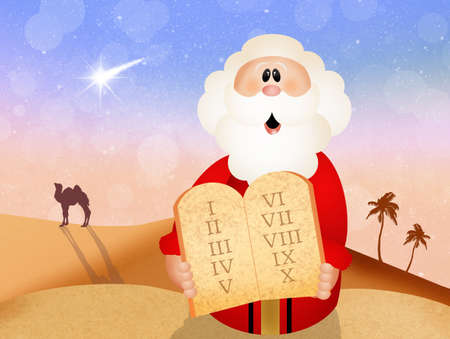 bible ten commandments: Moses with Ten Commandments