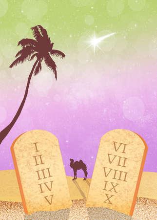 commandments: tables of the Ten Commandments
