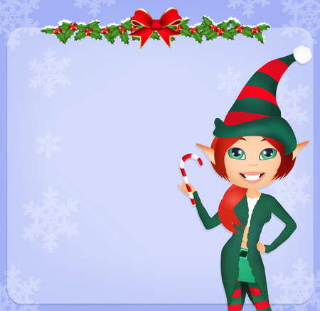postcard: Christmas postcard Stock Photo
