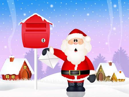 wishlist: Santa Claus with wishlist