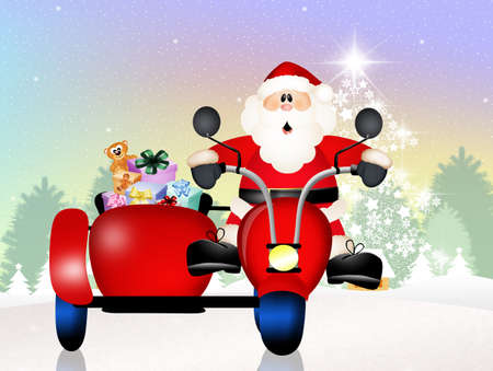 Santa Claus on sidecar photo