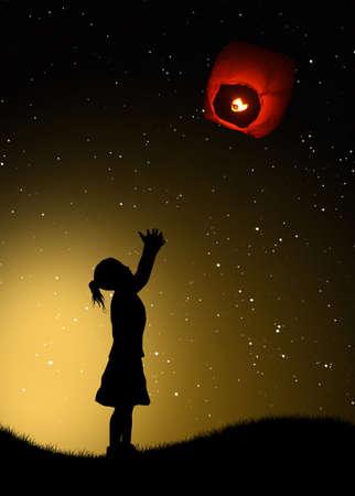 sky lantern: sky lantern