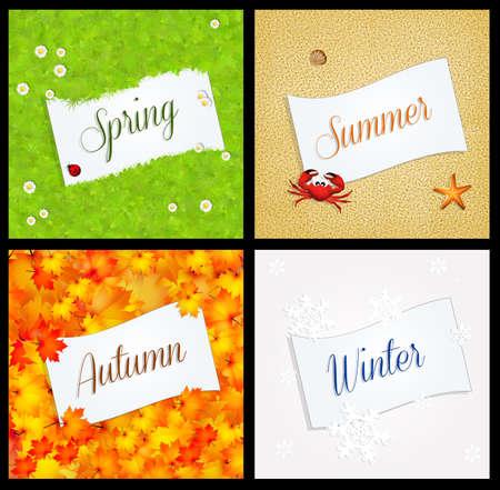four season: four season postcard