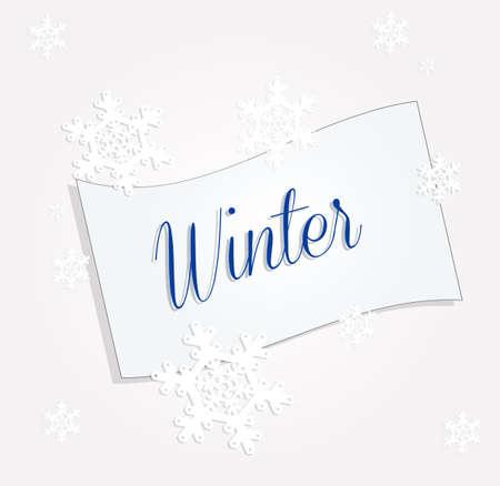 postcard: winter postcard