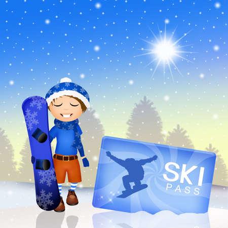 ski pass: ski pass