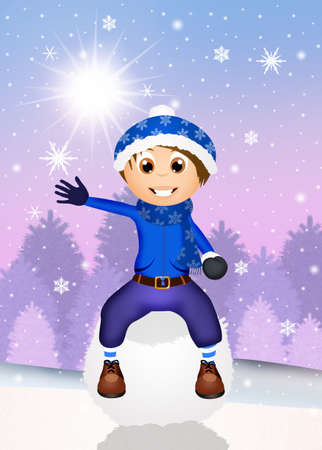 snowball: child on snowball