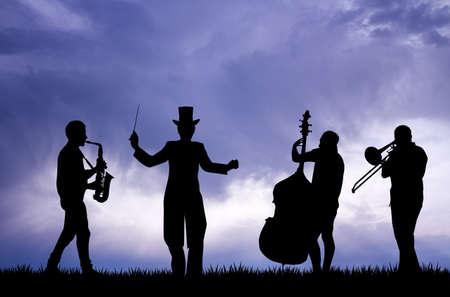 orquesta: Orquesta sinf�nica Foto de archivo