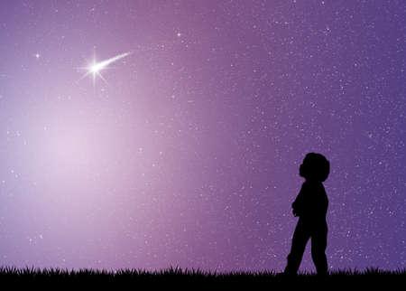 tiro al blanco: estrellas fugaces Foto de archivo