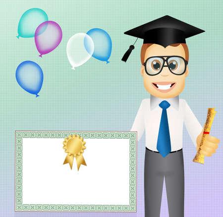 scholastic: man graduate