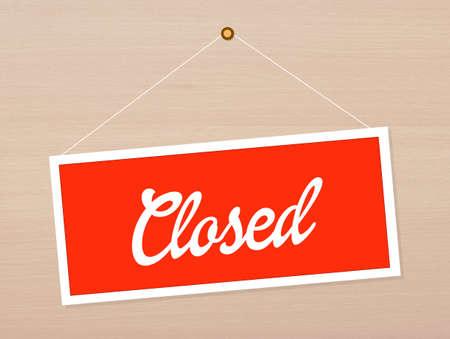 Cartel de cerrado Foto de archivo - 34168178