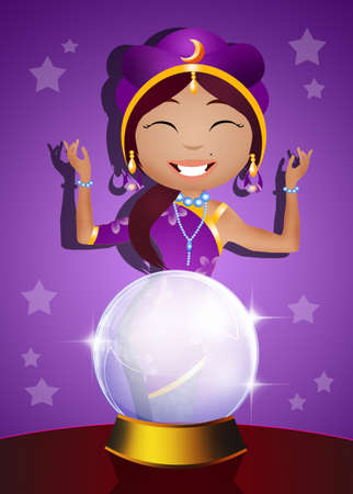 clairvoyant: clairvoyant and crystal ball Stock Photo