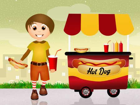 Hot dog cart photo