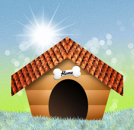 dog kennel: kennel for dog Stock Photo