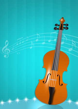 melodies: illustration of violin Stock Photo