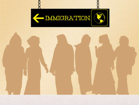 immigrate: illegal immigration
