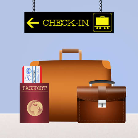 checked: baggage checked Stock Photo