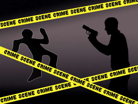homicide: crime scene Stock Photo