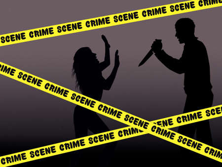 homicide: crime scene Stock Photo