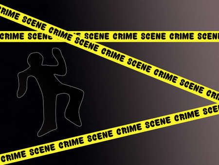 stalking: crime scene Stock Photo