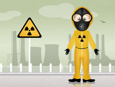 radiation hazard: radiation hazard Stock Photo