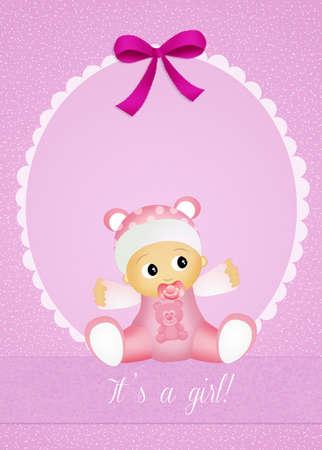 Baby birth announcement photo