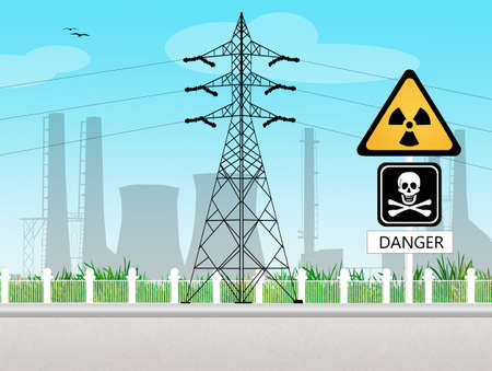 radiate: high voltage pylon Stock Photo