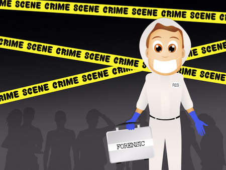 homicide: forensic on crime scene Stock Photo